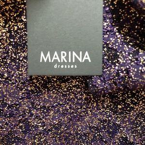 Marina dresses Plum/Gold